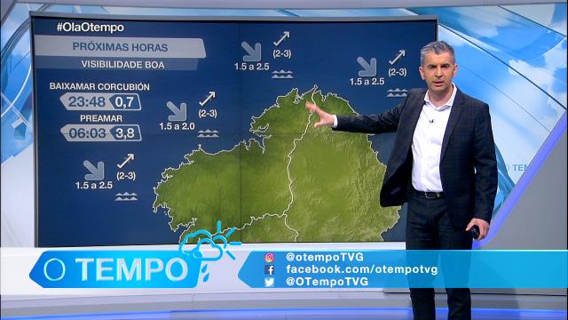 Vira o vento a compoñente sur na costa galega - 15/01/2021 21:30