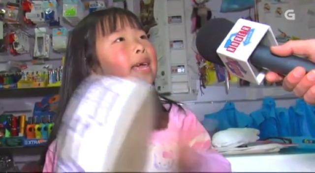 A estrela da pandeireta é chinesa, ten 6 anos e vive en Monterroso - 10/02/2016 22:00