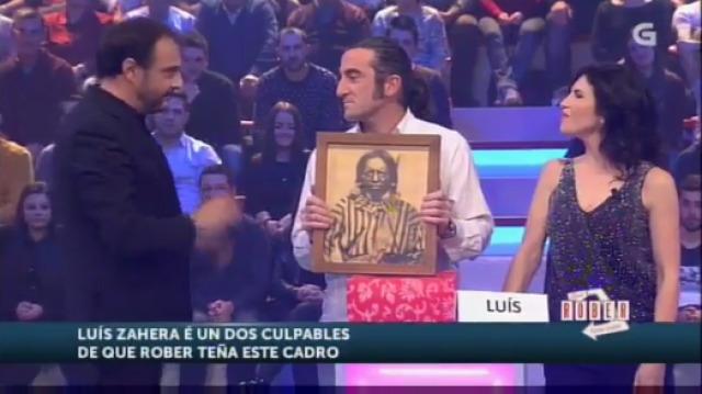 Luís Zahera pide perdón por un cadro roubado nun pub de Narón - 20/01/2016 22:00