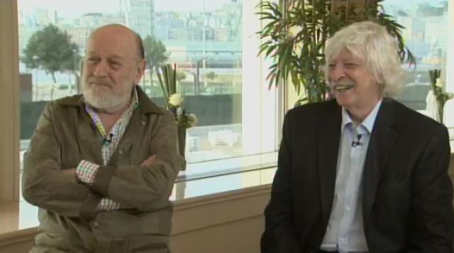Marcos Mundstock e Carlos López, co-fundadores de Les Luthiers, con Roberto Vilar - 14/10/2015 22:00