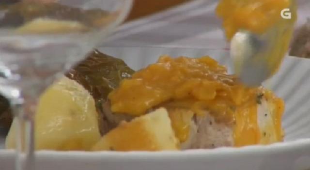 Bonito en salsa de ribeiro e biscoito de uvas e améndoas - 17/10/2017 22:00