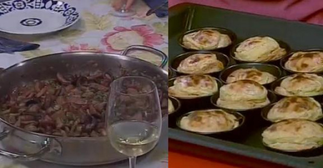 Chocos con fabas frescas / Pasteliños portugueses de crema - 17/04/2013 22:15
