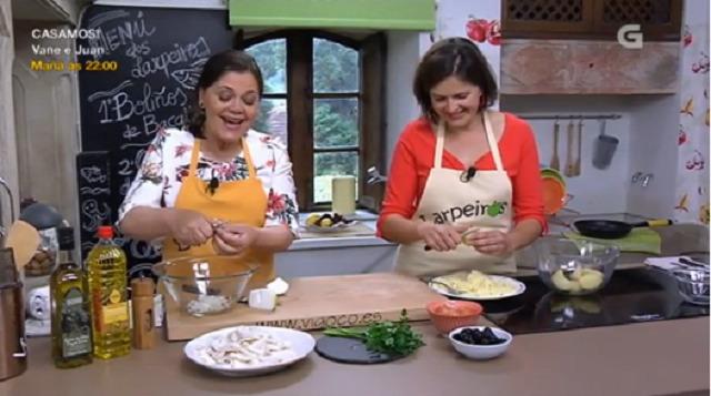 Con María do Ceo, boliños de bacallau, guiso de polbo e  torta de queixo con cereixas - 13/06/2017 22:00