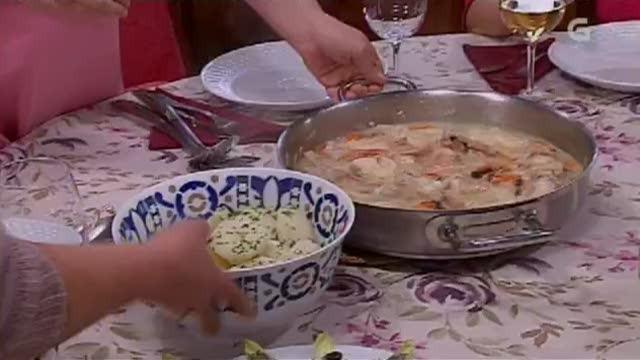Guiso de escarapote con mexillóns / torta de pexego, améndoa e requeixo galego - 20/03/2013 00:00