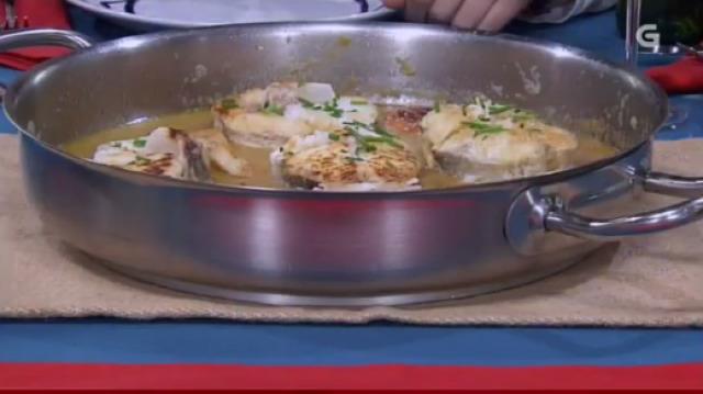 Guiso de pescada con vieiras e torta de marmelo e mazá - 04/02/2016 22:00