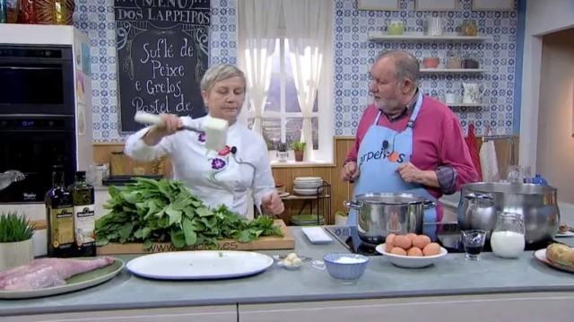 Suflé de peixe sapo e grelos - 16/04/2019 22:00