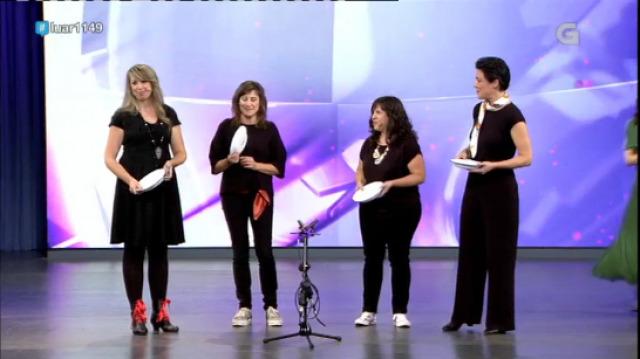 Catro burgalesas cantando en galego! Chouteira interpreta 'Muiñeira de Lira' - 23/11/2018 23:33