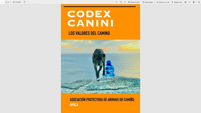 A Asociación Protectora de Animais do Camiño preséntanos 'Códex Canini. Os valores do Camiño' - 20/05/2020 13:45