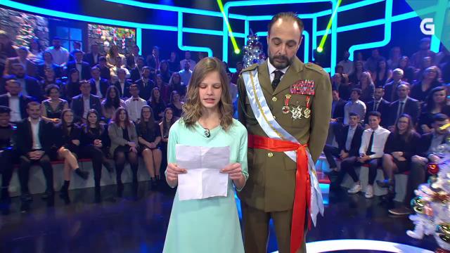 A princesa Leonor dá o seu primeiro discurso en galego canda o seu avó - 24/12/2019 22:25