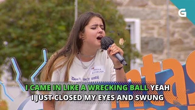 Paula, da Coruña, canta o 'Wrecking ball' de Miley Cyrus - 24/08/2020 19:30