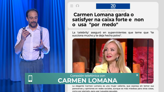 Roberto Vilar chama en directo a Carmen Lomana para preguntarlle polo seu satisfyer - 30/04/2020 22:00
