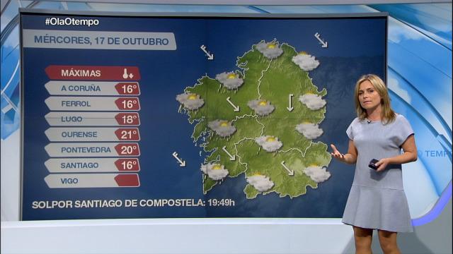 As chuvias poden repartirse por toda Galicia - 17/10/2018 16:38