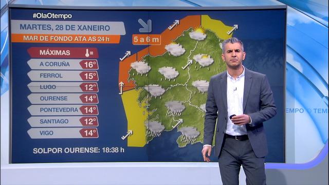 Aviso en toda a costa galega - 28/01/2020 15:30