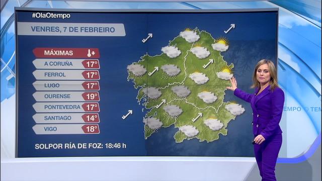 Chuvia miúda no oeste galego - 07/02/2020 15:30