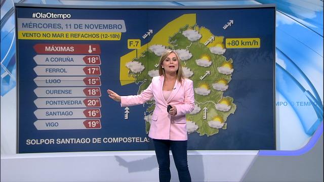 Chuviscas ao oeste de Galicia - 11/11/2020 15:45