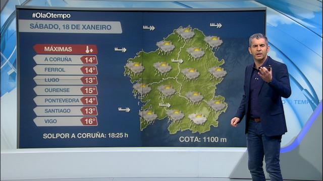 Precipitacións intermitentes para as próximas horas - 18/01/2020 15:10