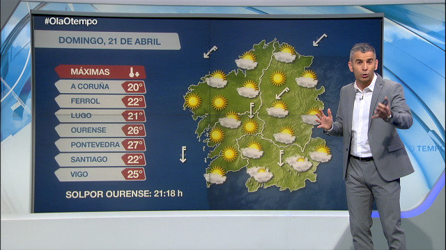 Tarde de domingo con boa temperaturas e algún chuvasco nas zonas de montaña do sur - 21/04/2019 15:45