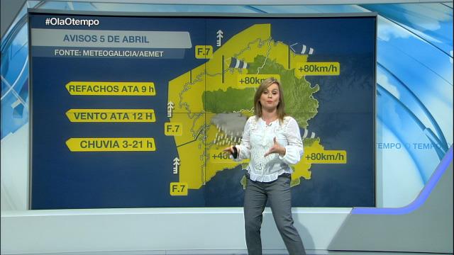 Avisos por chuvia, vento e refachos - 04/04/2020 21:45