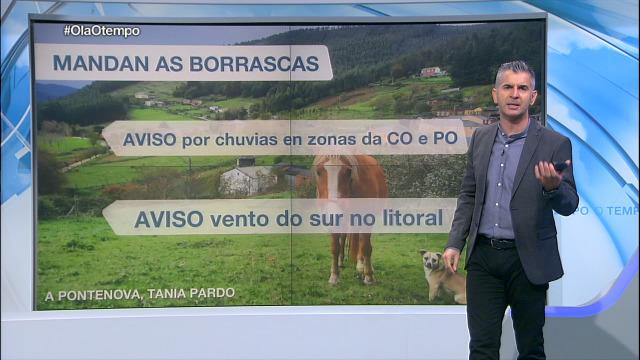 Domingo con avisos por chuvias en zonas da costa da Coruña e en toda a provincia de Pontevedra - 07/11/2020 21:30