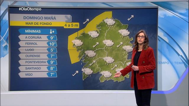 O domingo, unha fronte débil deixará algunha chuvia pola mañá - 07/03/2020 21:30