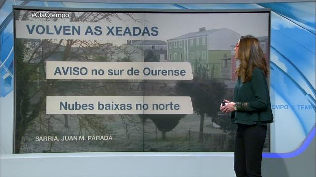 O sur de Ourense volve estar en aviso por temperaturas mínimas - 12/01/2019 21:30