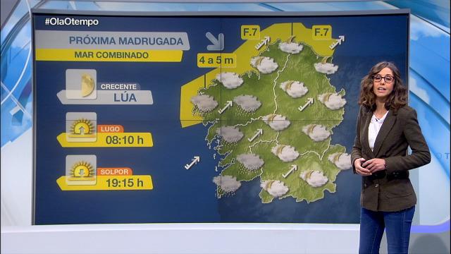 Situación intermedia entre altas e baixas presións e mar combinado na costa - 26/02/2020 22:00