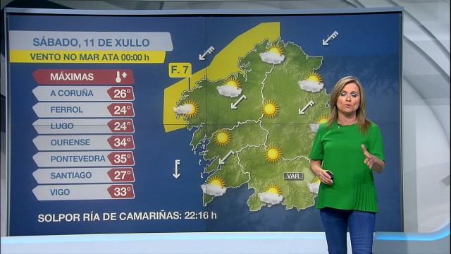 Xornada de vento na costa e altas temperaturas no sur de Galicia - 11/07/2020 10:15