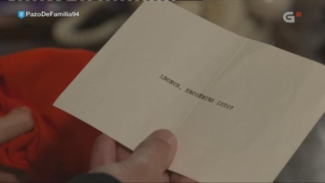 Que significa o pano vermello que recibiu Leonor por correo postal? Intriga tras intriga... - 27/11/2017 22:46