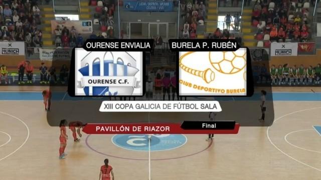 Final da XIII Copa Galicia de futbol sala feminino: Ourense Envialia - Pescados Rubén Burela - 21/04/2019 12:30