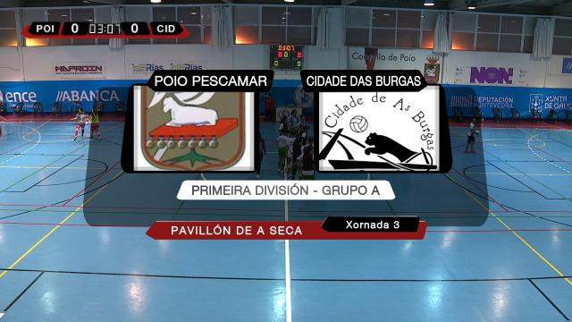 Fútbol sala feminino (1ª div. Grupo A, 3ª xornada): Poio Pescamar - Cidade das Burgas - 31/10/2020 17:00