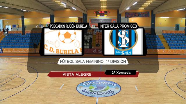 Futbol sala feminino (adiado da 2ª xornada): Pescados Rubén Burela - Intersala Zaragoza - 26/12/2020 12:00