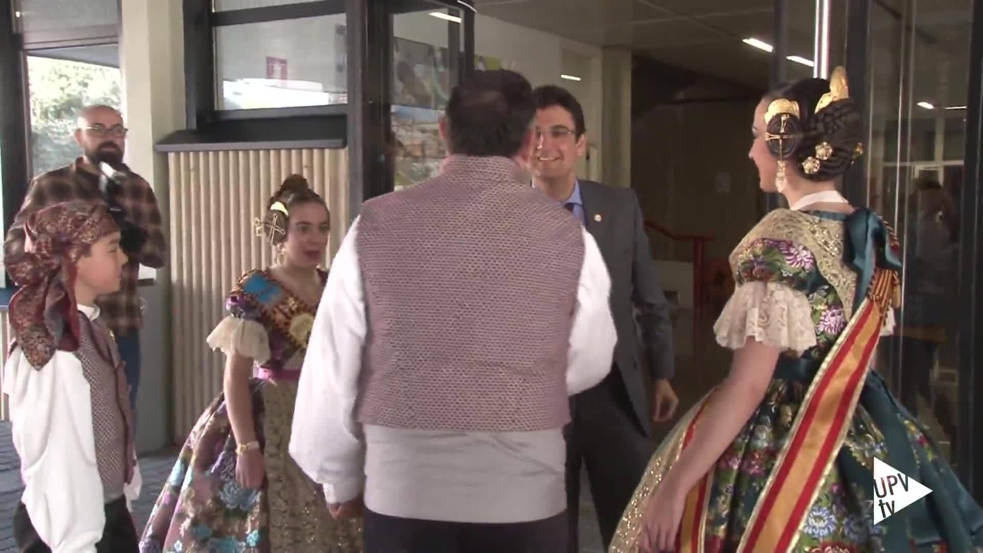 01-03-2019 Las falleras mayores visitan la UPV