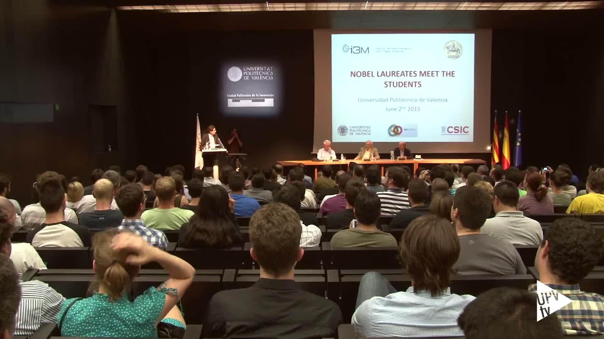 03-06-2015 Charla con tres premios Nobel