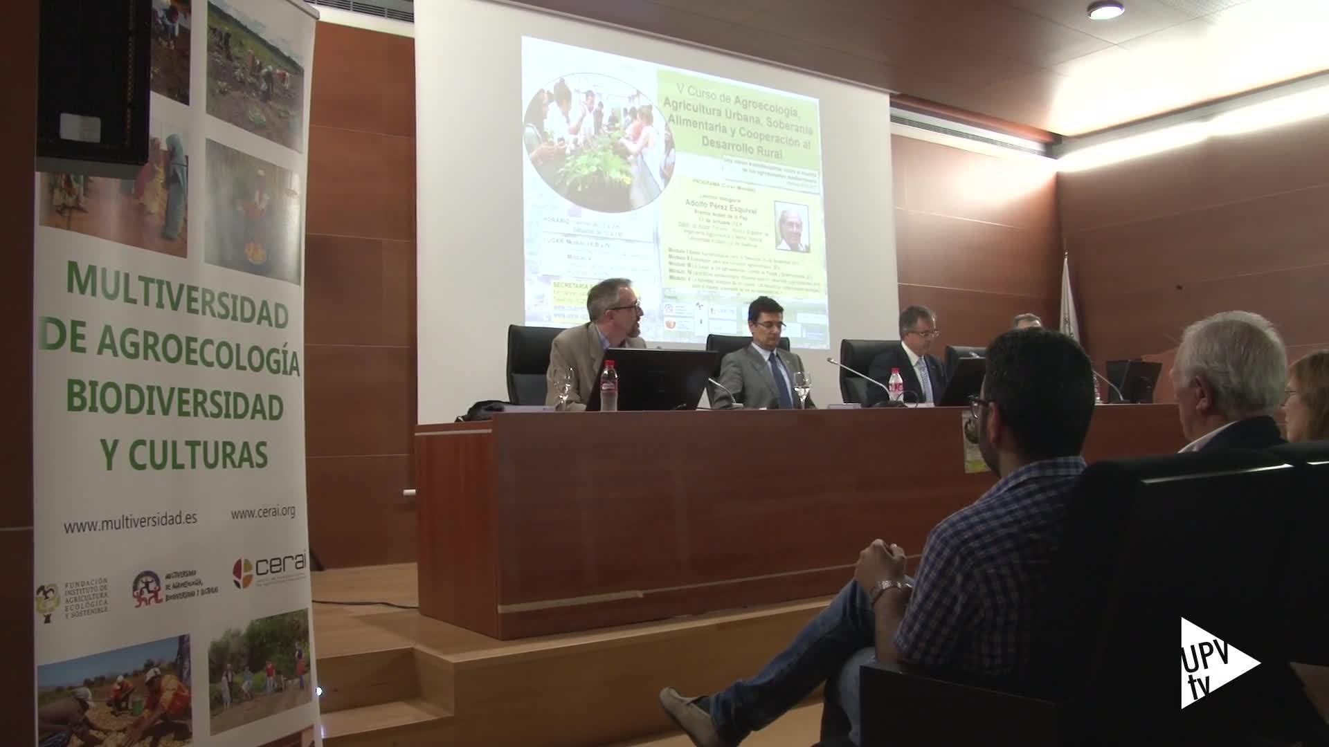 11-10-2016 Pérez Esquivel inaugura curso de Agroecología