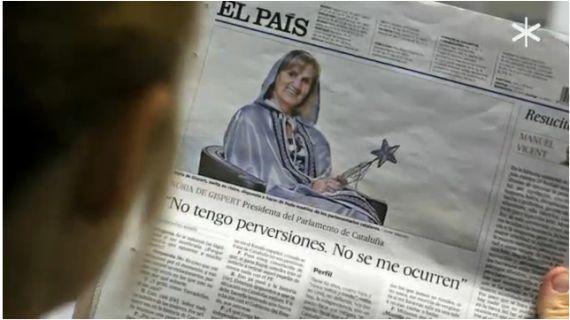 Controvèrsia per la disfressa de fada de la presidenta del Parlament