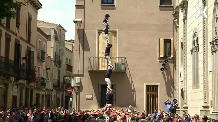 Diada aniversari Nens del Vendrell, diades castelleres de Barcelona, Mataró, Cornellà i Selva del Camp