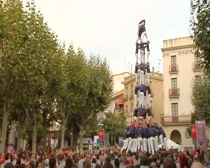Diades castelleres de Granollers, Barcelona, Mataró, Altafulla i actuació dels castellers de Sant Cugat