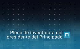 Imagen de Pleno de investidura del presidente del Principado