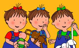 Imagen de Les tres bessones bebès en TV3 (Cataluña)