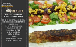 Imagen del vídeo Espetada de tenreira e porco con ensalada - 13/11/2018 11:00